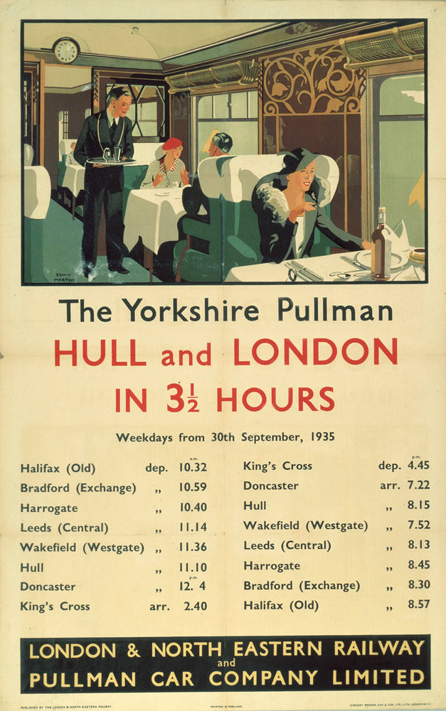 "The Yorkshire Pullman - Hull and London 24"" x 32"" Matte Mounted Print"