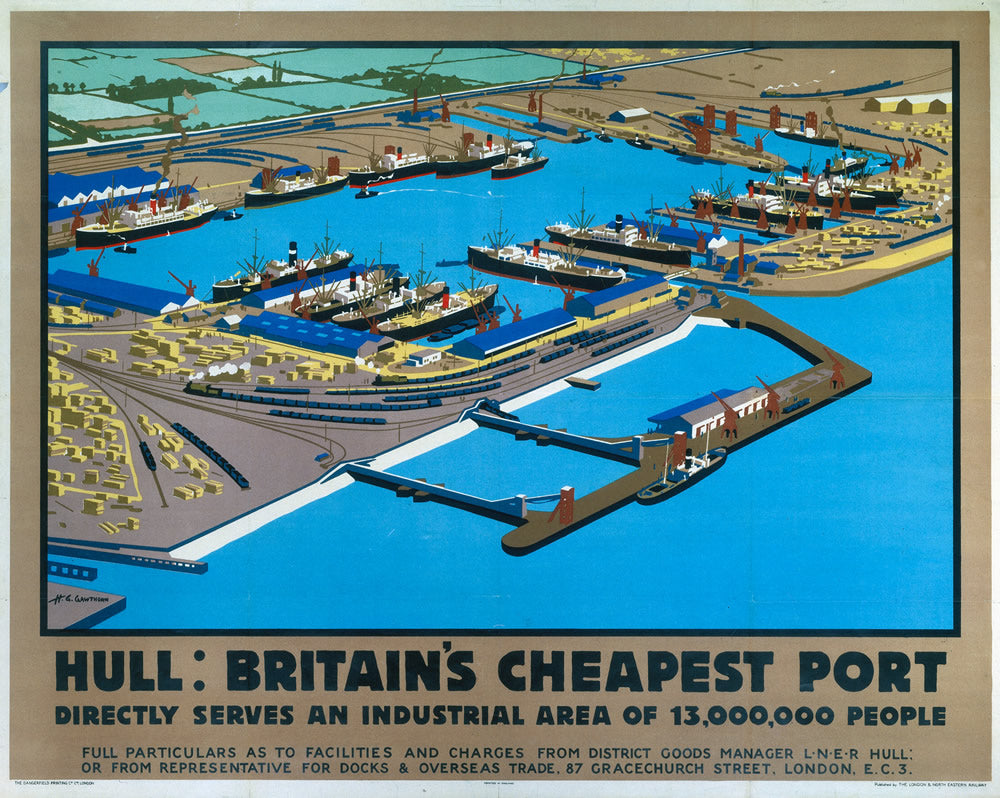 "Hull Britain's Cheapest port 24"" x 32"" Matte Mounted Print"