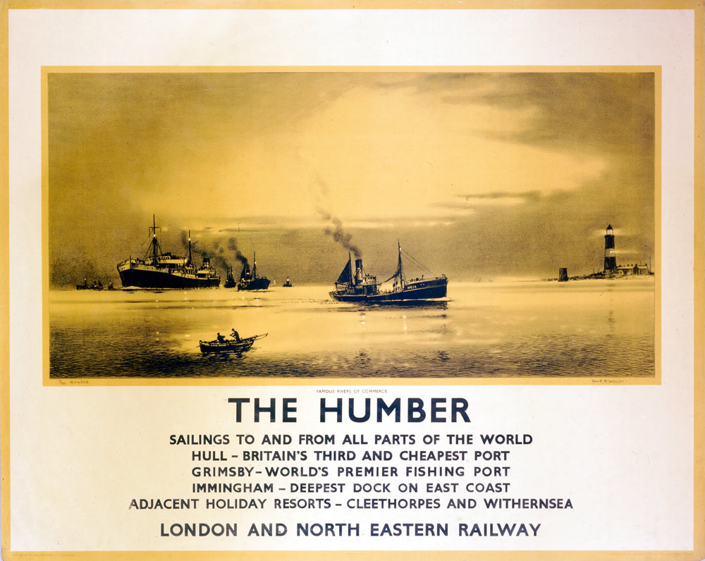"The Humber - Hull 24"" x 32"" Matte Mounted Print"