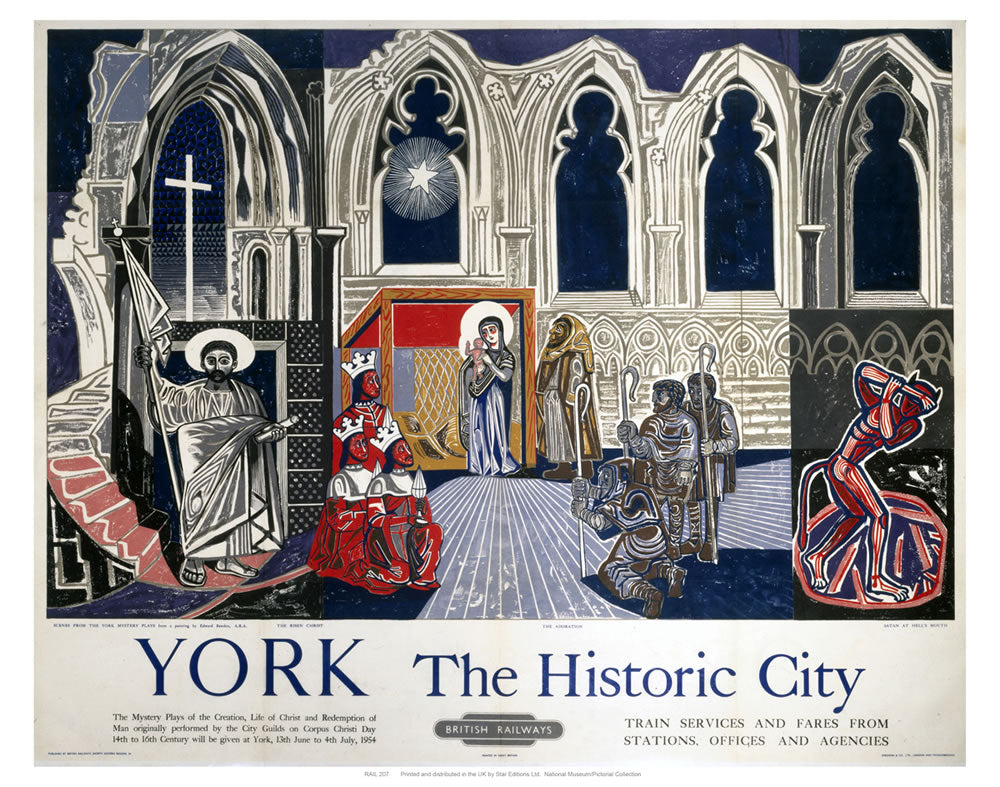 "York the Historic City 24"" x 32"" Matte Mounted Print"