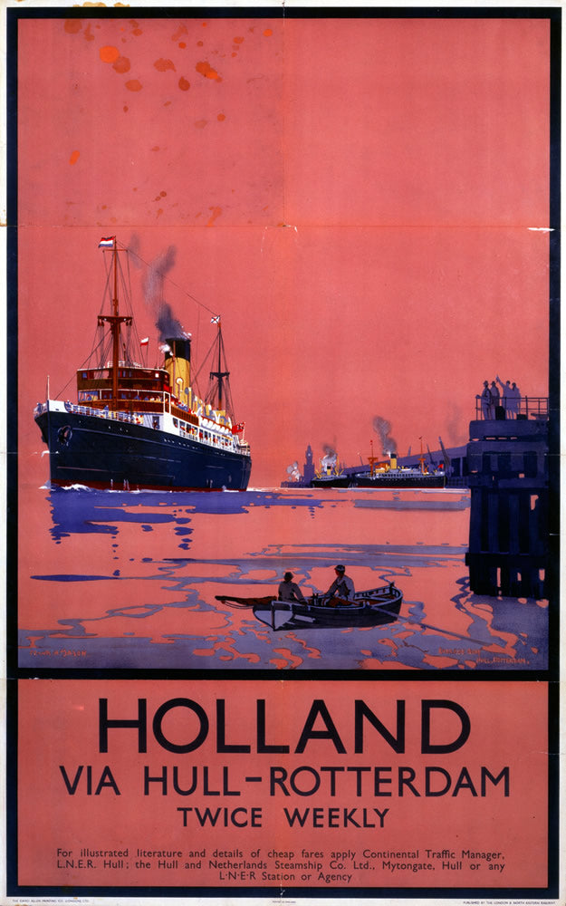 "Holland via Hull - Rotterdam 24"" x 32"" Matte Mounted Print"