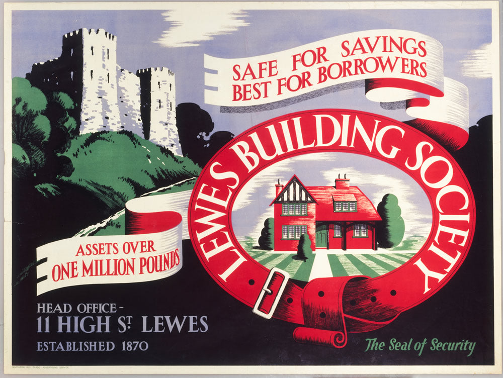 "Lewes Building Society 24"" x 32"" Matte Mounted Print"