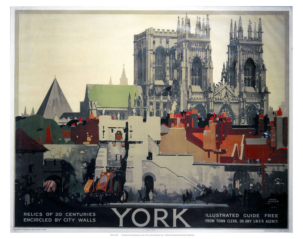 "York Relics of 20 Centuries 24"" x 32"" Matte Mounted Print"