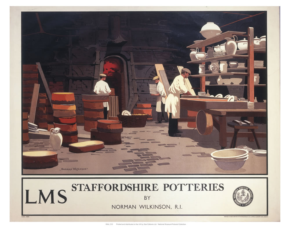 "Staffordshire Potteries 24"" x 32"" Matte Mounted Print"