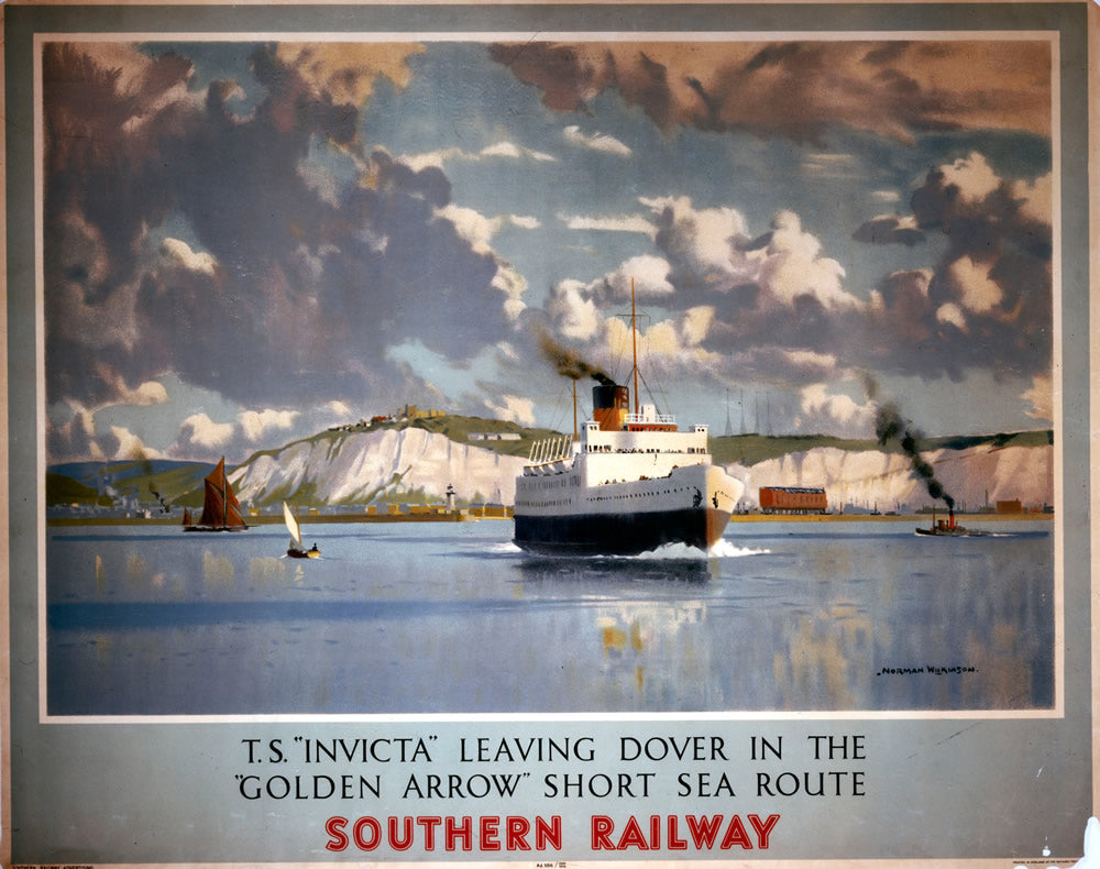 "T.S. Invicta Dover Southern Railway 24"" x 32"" Matte Mounted Print"