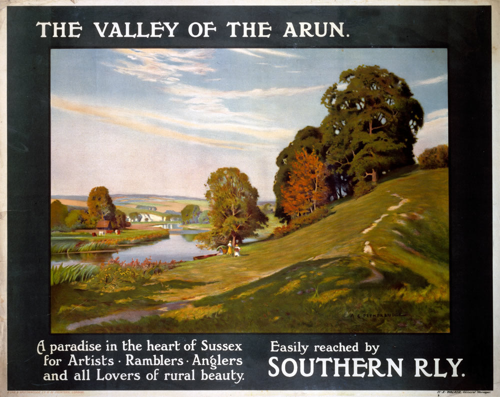 "The Valley of the Arun Southern Railway 24"" x 32"" Matte Mounted Print"