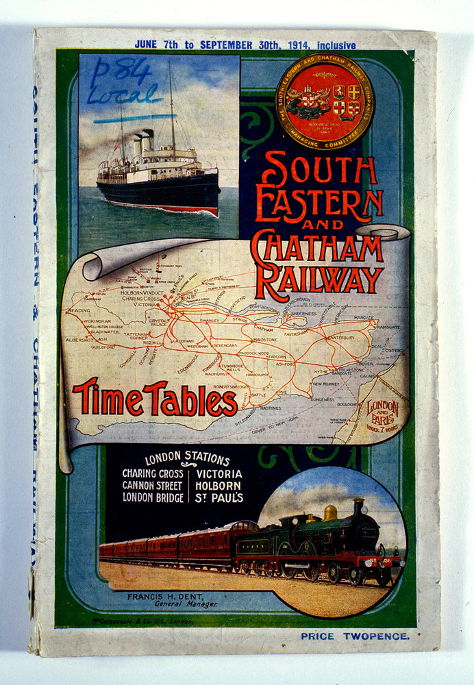 "South Eastern and Chatham Railway 24"" x 32"" Matte Mounted Print"