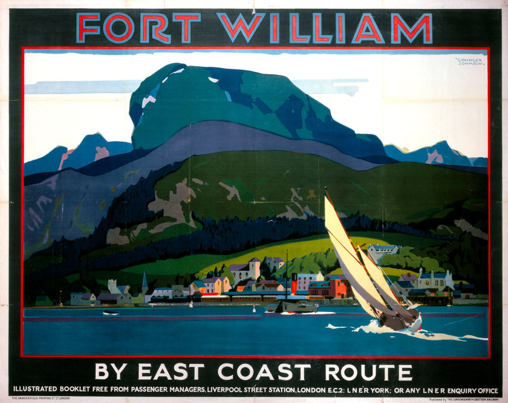 "Fort William by East Coast 24"" x 32"" Matte Mounted Print"