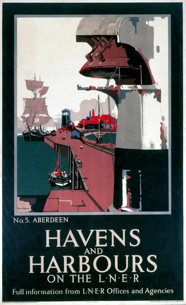 "Havens and Harbours Aberdeen 24"" x 32"" Matte Mounted Print"