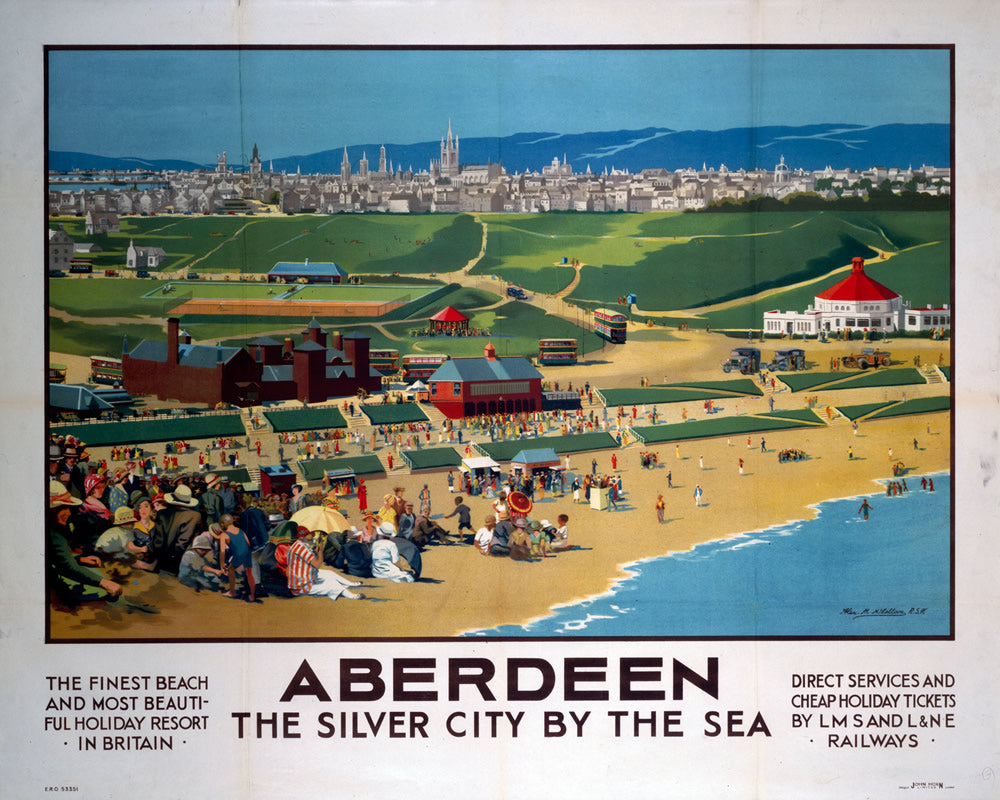 "Aberdeen The Silver City by the Sea 24"" x 32"" Matte Mounted Print"