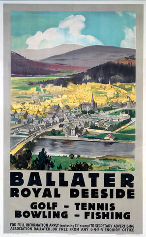 "Ballater Royal Deeside 24"" x 32"" Matte Mounted Print"