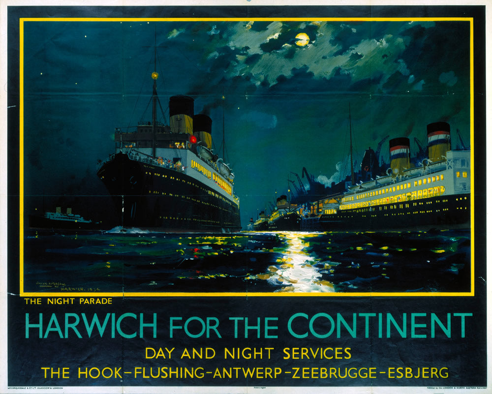 "Harwich for the Continent 24"" x 32"" Matte Mounted Print"