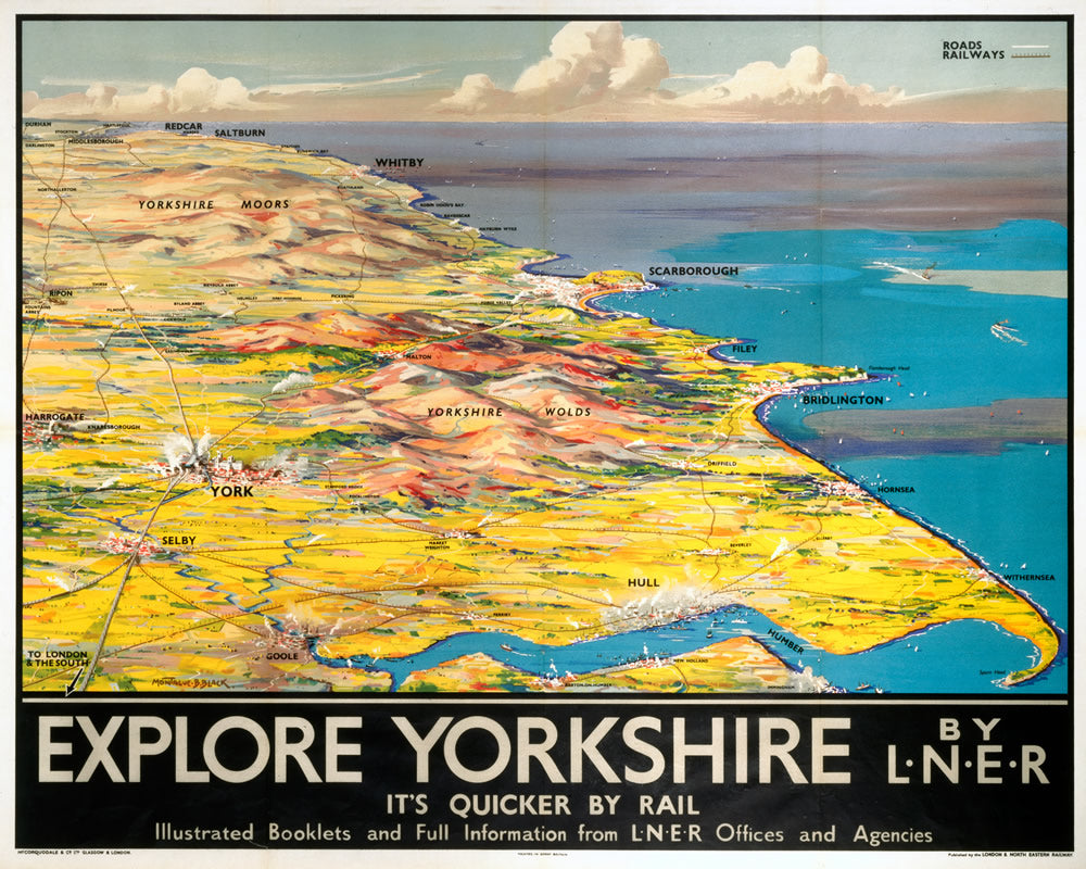 "Explore Yorkshire by LNER 24"" x 32"" Matte Mounted Print"