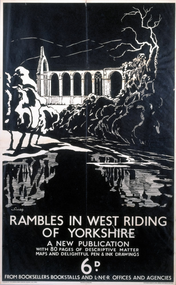 "Rambles in West Riding Yorkshire 24"" x 32"" Matte Mounted Print"