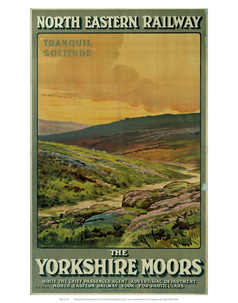 "The Yorkshire Moors 24"" x 32"" Matte Mounted Print"