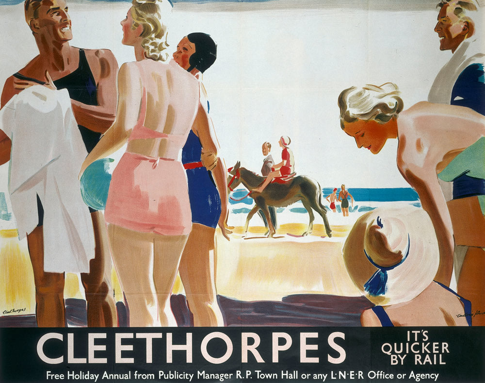 "Cleethorpes It's Quicker By Rail 24"" x 32"" Matte Mounted Print"