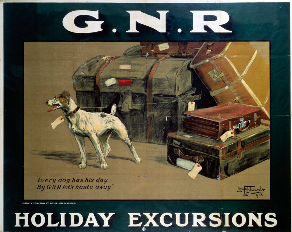 "Every Dog has his Day GNR Holiday Excursions 24"" x 32"" Matte Mounted Print"