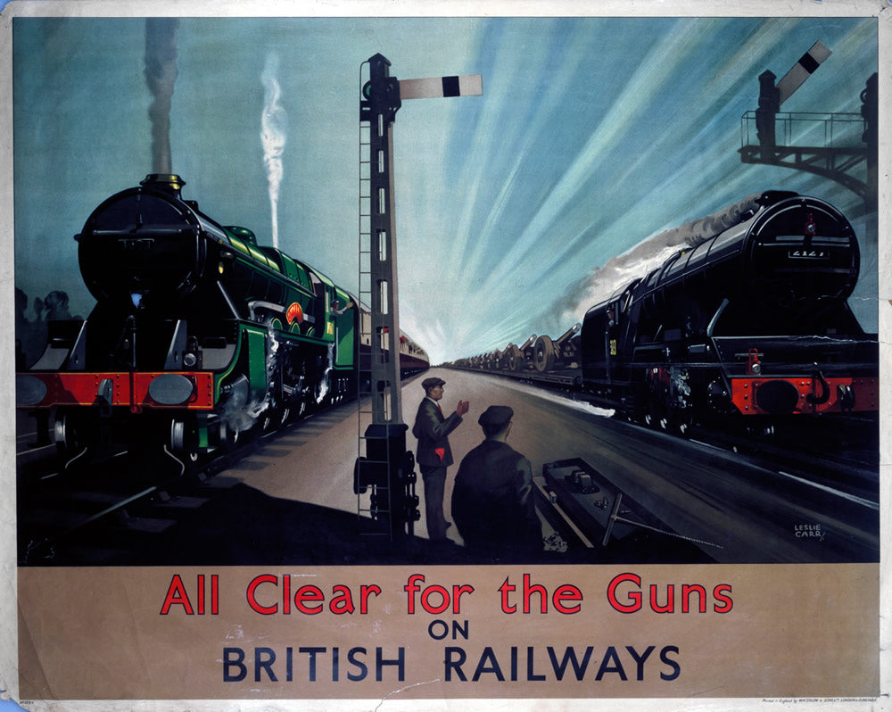 "All Clear for the Guns on British Railways 24"" x 32"" Matte Mounted Print"