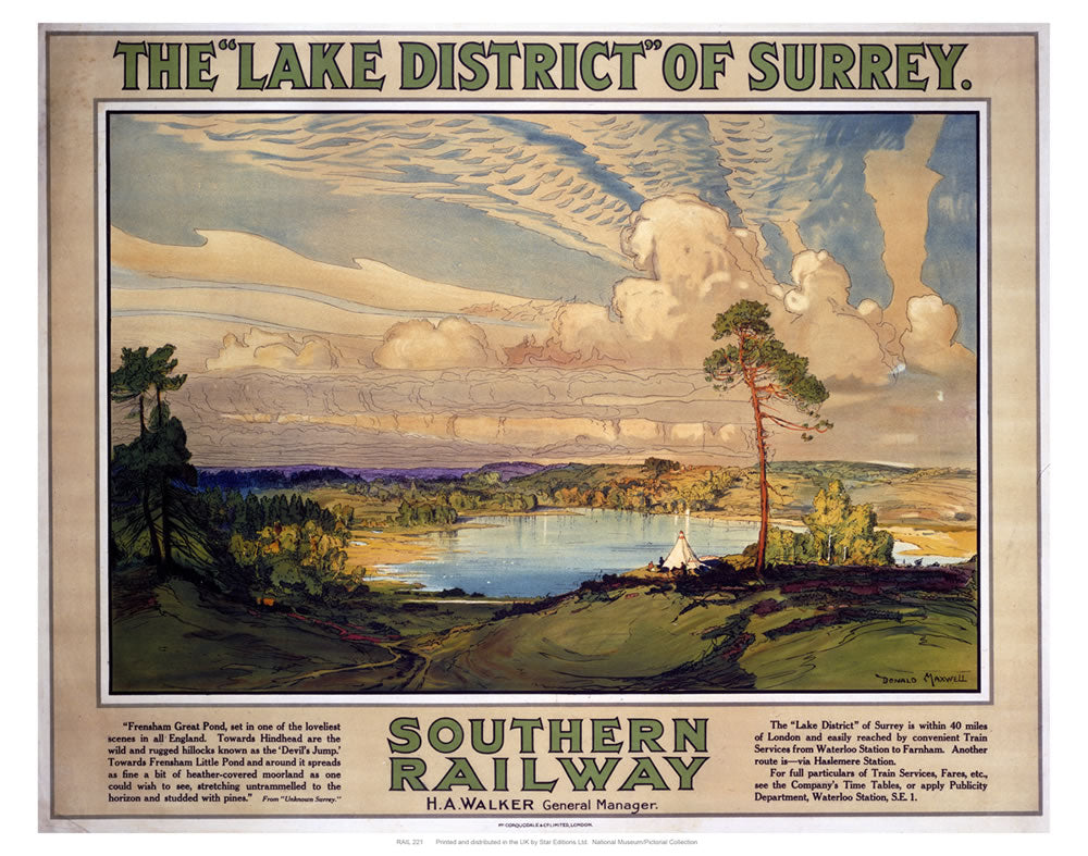 "The Lake District of Surrey 24"" x 32"" Matte Mounted Print"