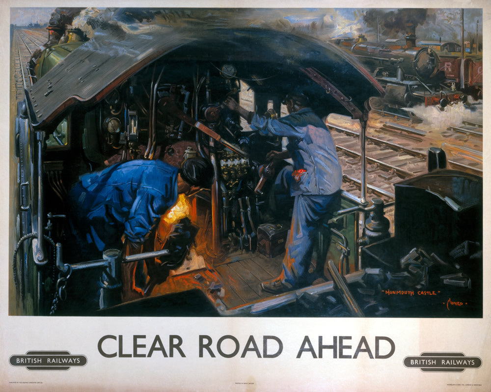"Clear Road Ahead British Railways 24"" x 32"" Matte Mounted Print"