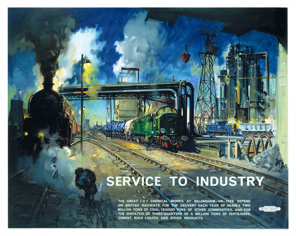 "Service to Industry - Billingham-on-Tees 24"" x 32"" Matte Mounted Print"