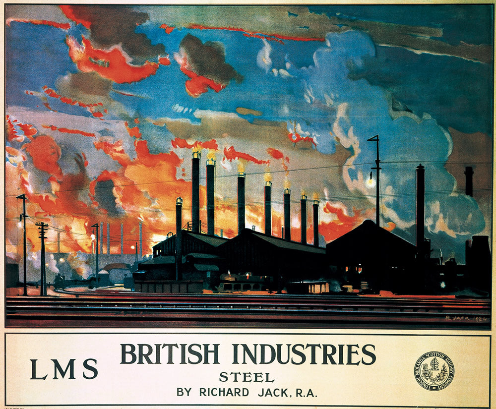"British Industries Steel LMS 24"" x 32"" Matte Mounted Print"