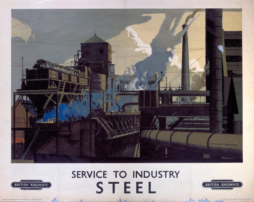 "Service to Industry STEEL 24"" x 32"" Matte Mounted Print"