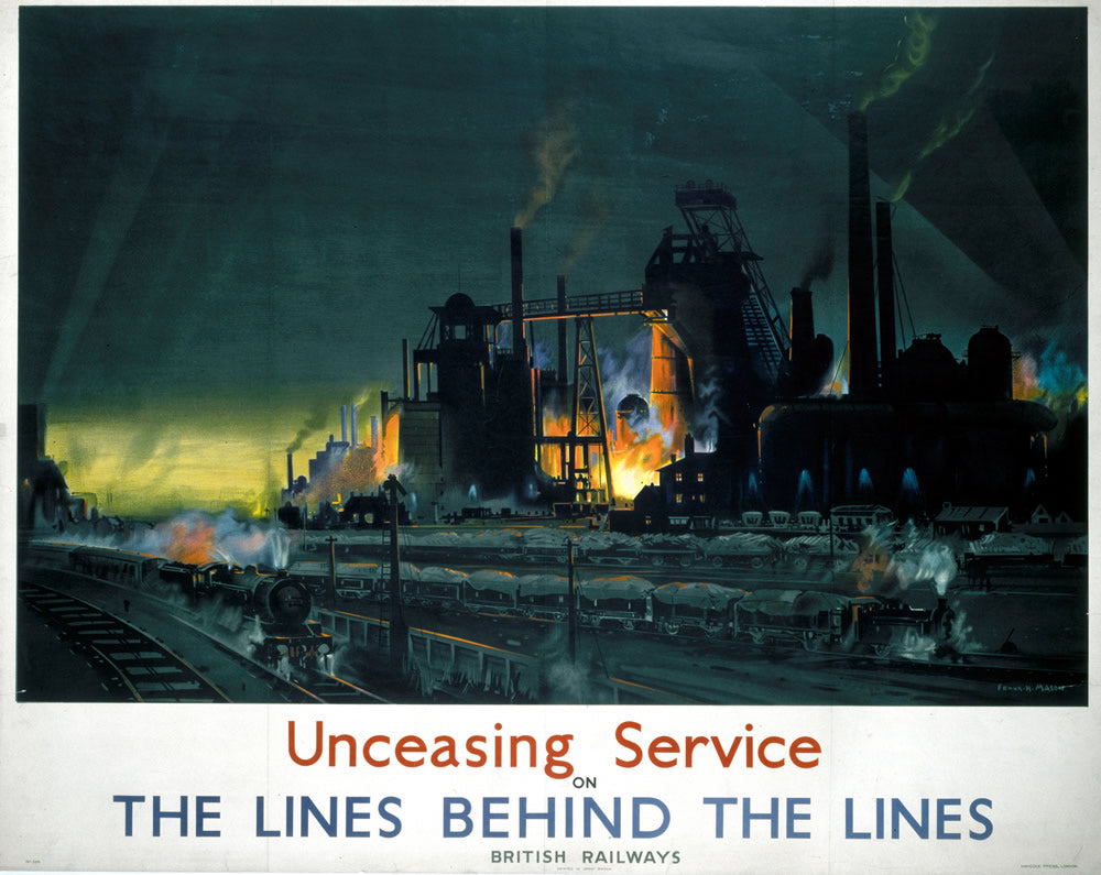 "Unceasing Service the Lines behind the lines 24"" x 32"" Matte Mounted Print"