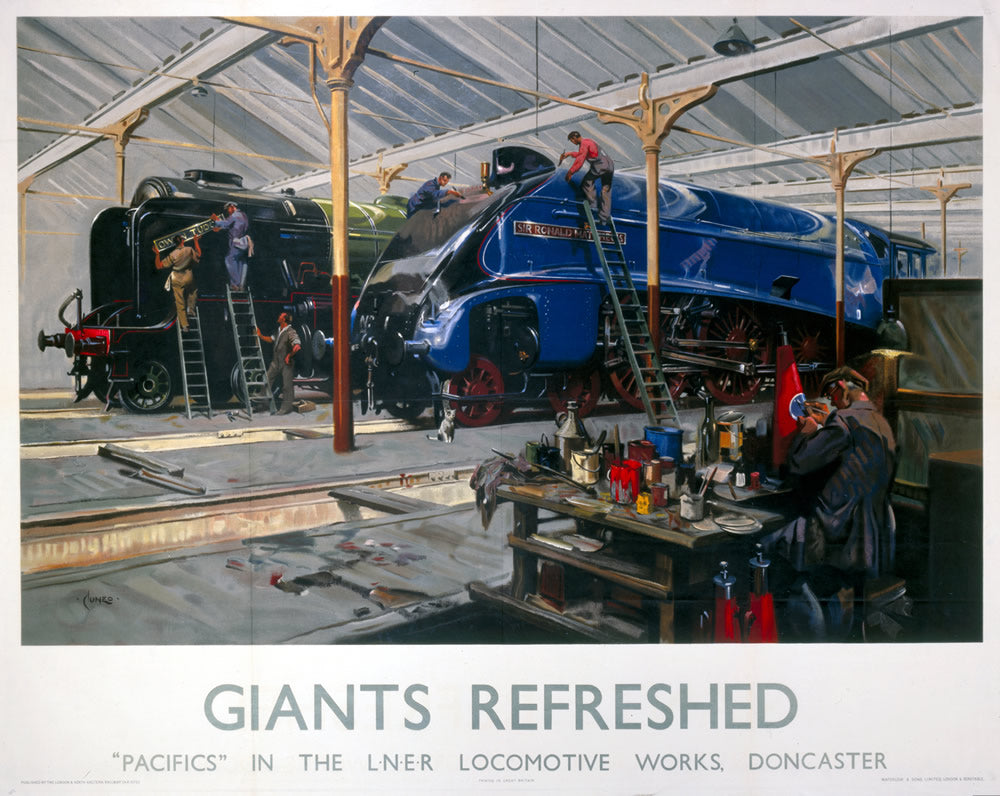 "Giants Refreshed LNER Doncaster 24"" x 32"" Matte Mounted Print"