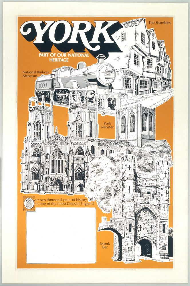 "York National Heritage poster 24"" x 32"" Matte Mounted Print"