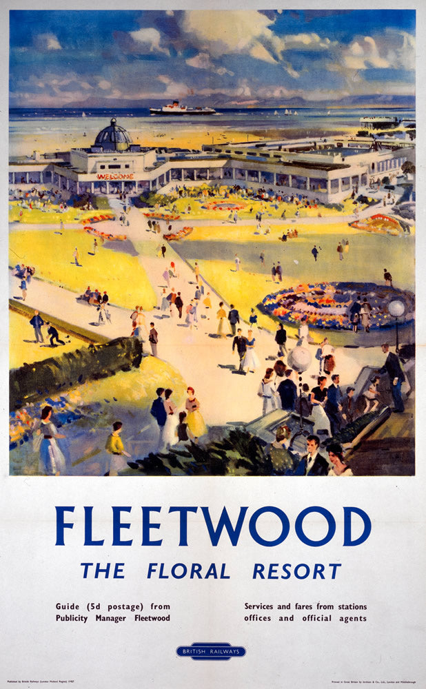 "Fleetwood The Floral Resort 24"" x 32"" Matte Mounted Print"