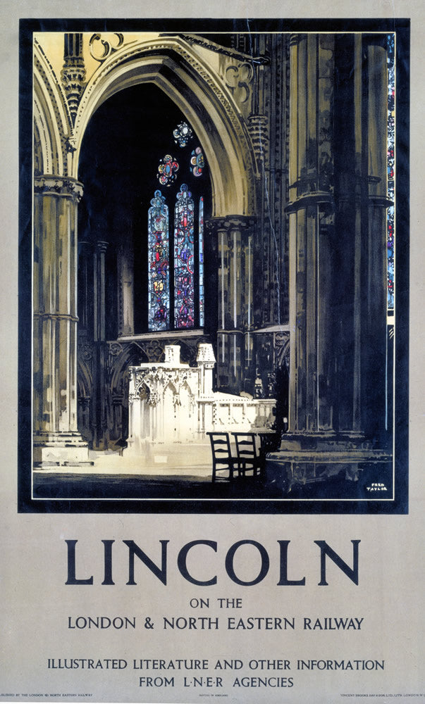 "Lincolnshire LNER It's Quicker By Rail 24"" x 32"" Matte Mounted Print"