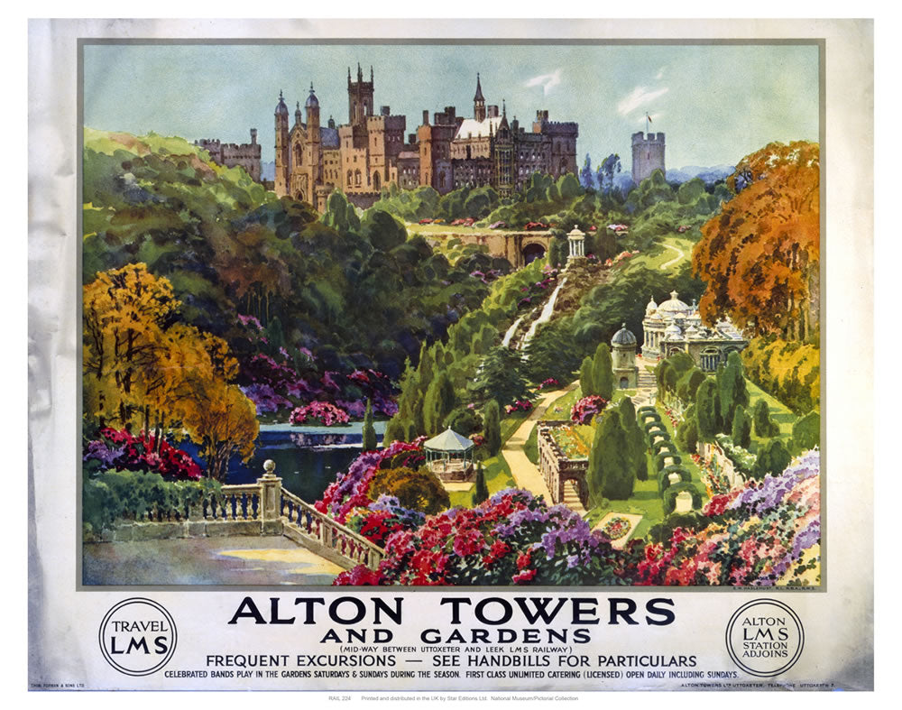 "Alton Towers 24"" x 32"" Matte Mounted Print"