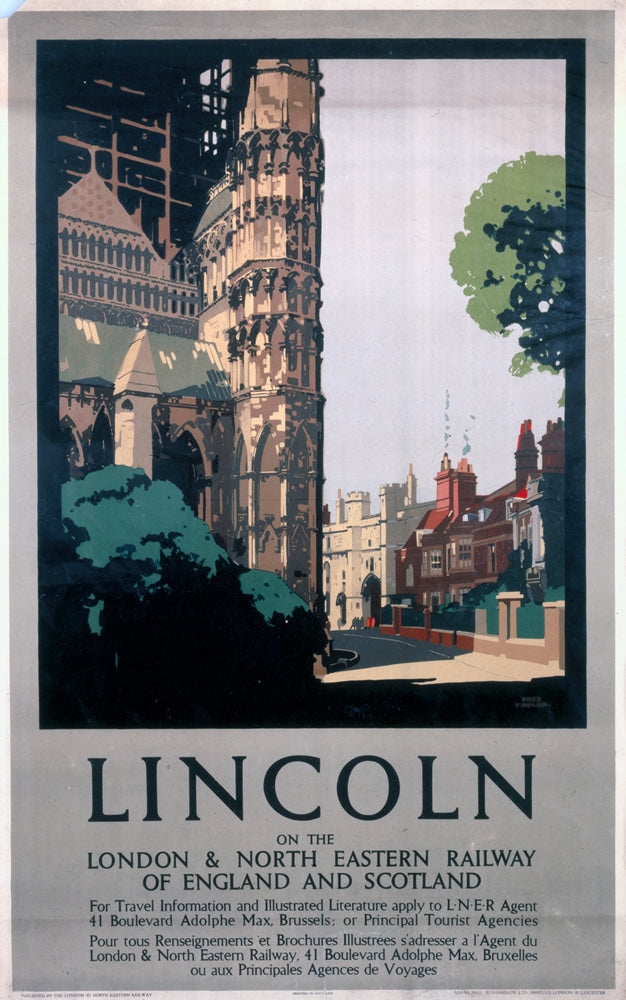 "Lincoln LNER 24"" x 32"" Matte Mounted Print"