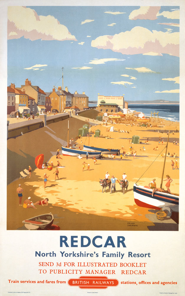 "Redcar North Yorkshire's Family Resort 24"" x 32"" Matte Mounted Print"