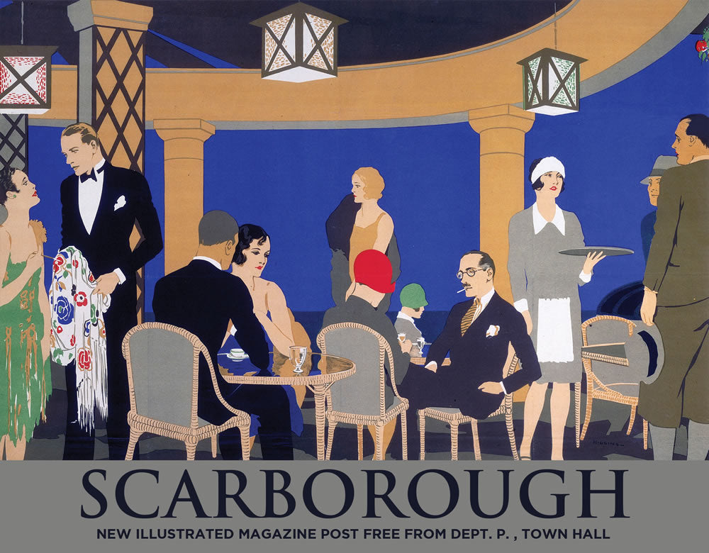 "Scarborough It's Quicker by Rail Half Poster 24"" x 32"" Matte Mounted Print"