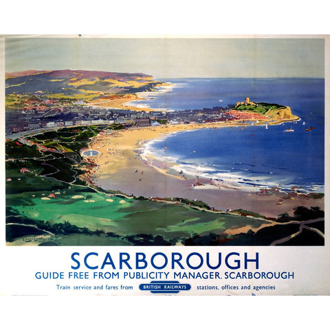 "Scarborough British Railways 24"" x 32"" Matte Mounted Print"