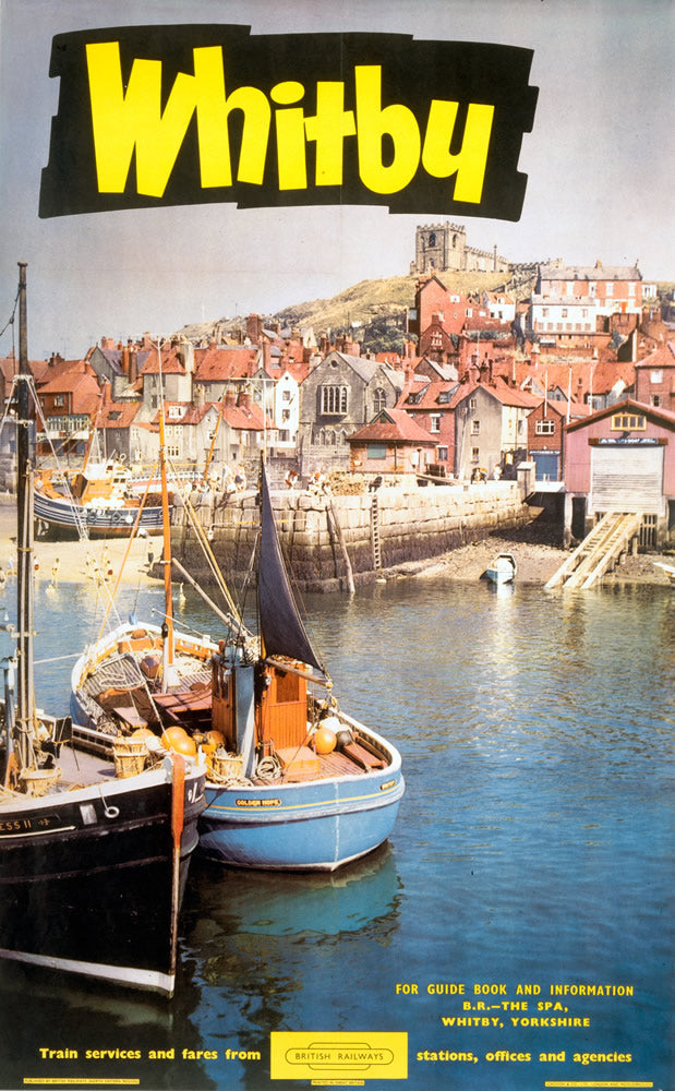 "Whitby British Railways 24"" x 32"" Matte Mounted Print"