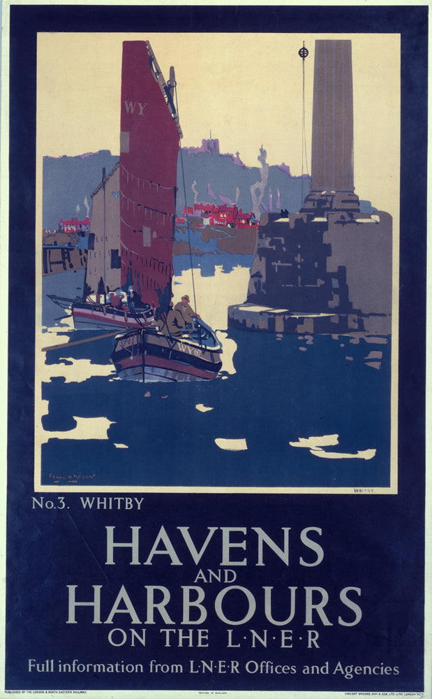 "Havens and Harbours Whitby LNER 24"" x 32"" Matte Mounted Print"