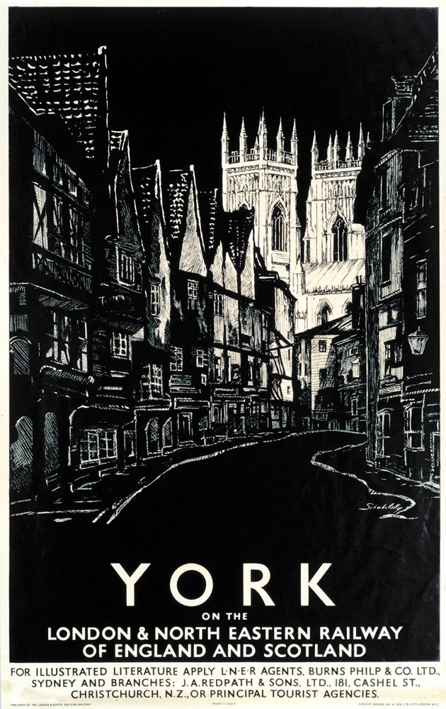 "York on the LNER 24"" x 32"" Matte Mounted Print"