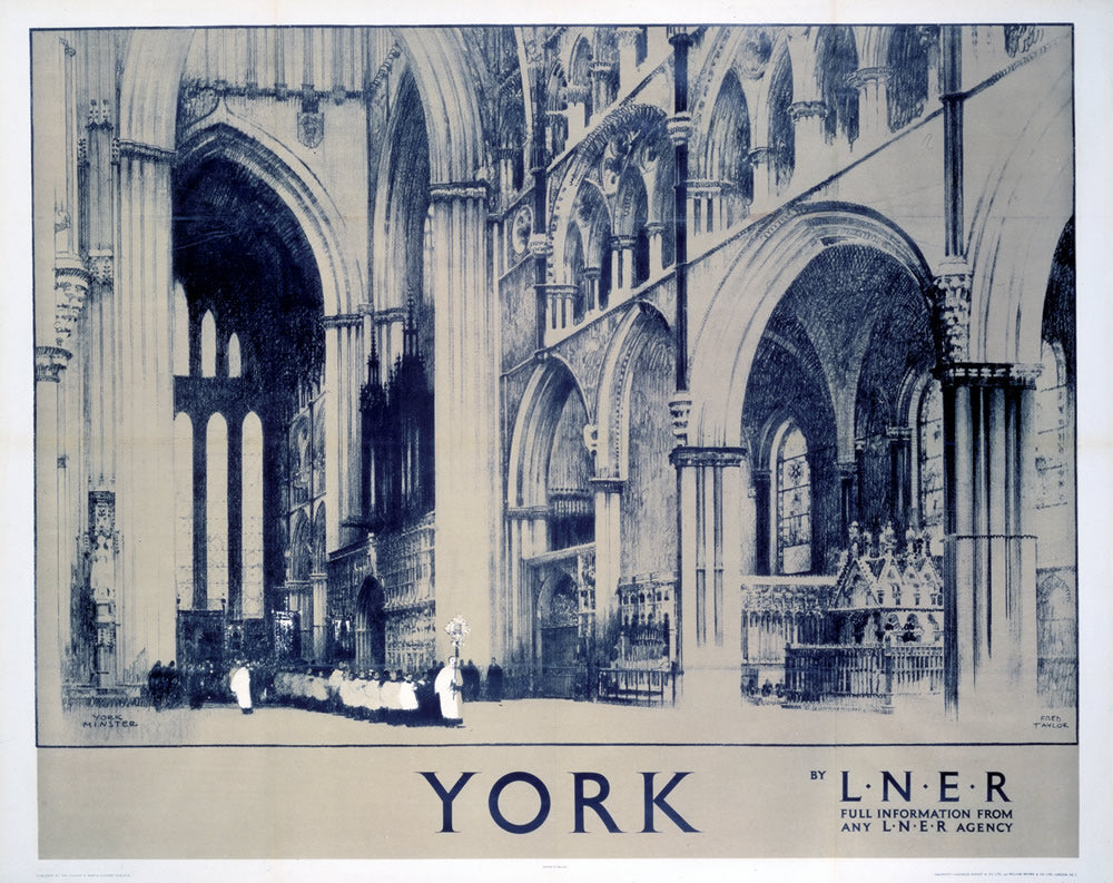 "York by LNER 24"" x 32"" Matte Mounted Print"