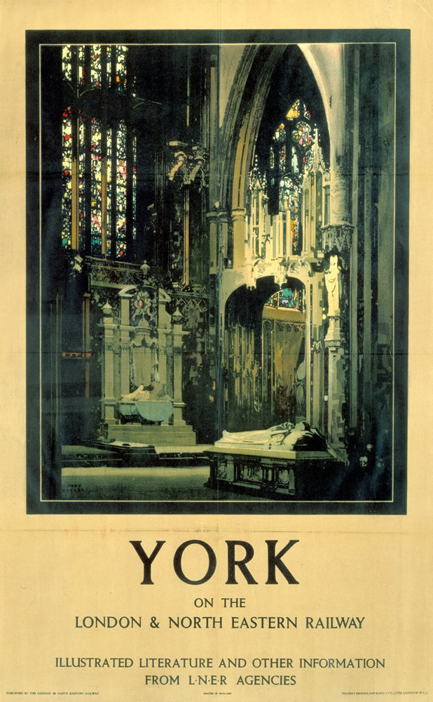 "York Minster on the LNER 24"" x 32"" Matte Mounted Print"