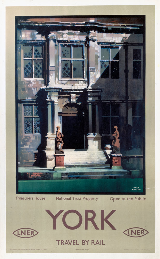 "York Treasurer's House National Trust LNER 24"" x 32"" Matte Mounted Print"