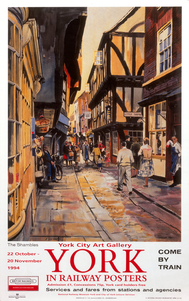 "York Railway Posters Exhibition 24"" x 32"" Matte Mounted Print"