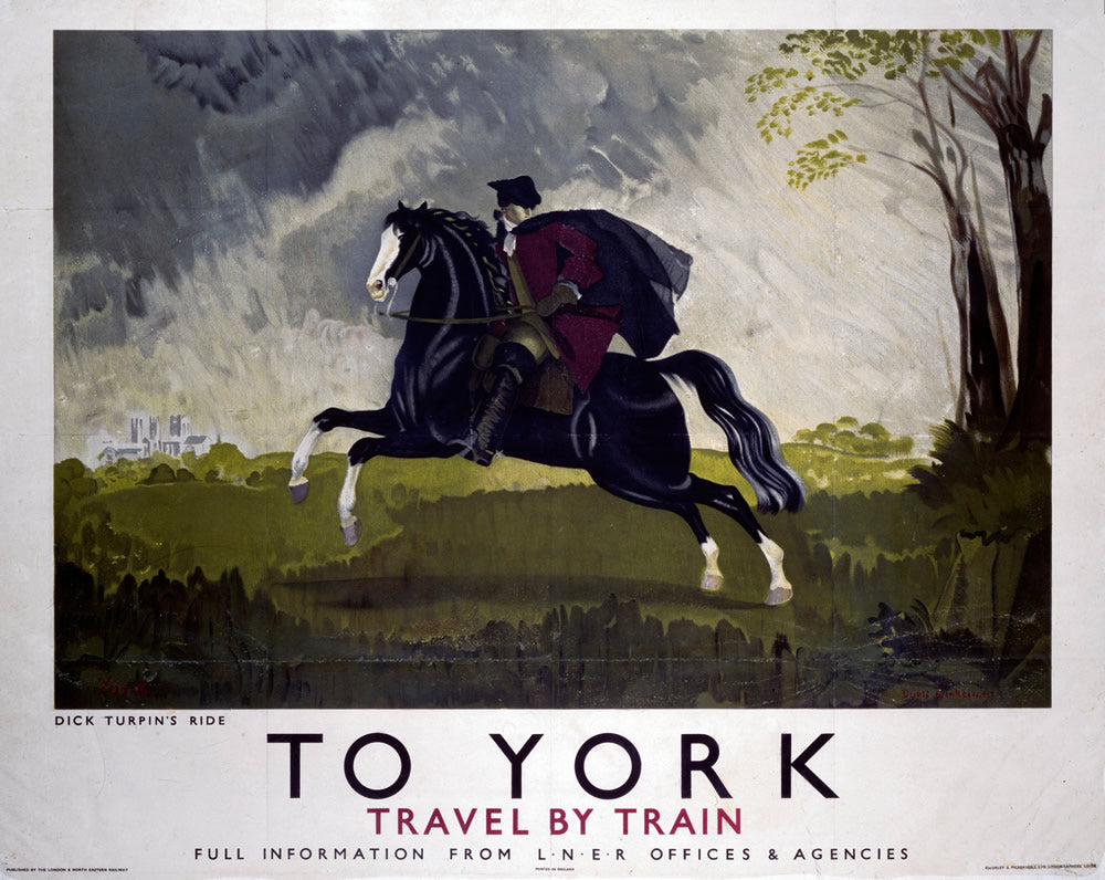 "To York Dick Turpin's Ride 24"" x 32"" Matte Mounted Print"