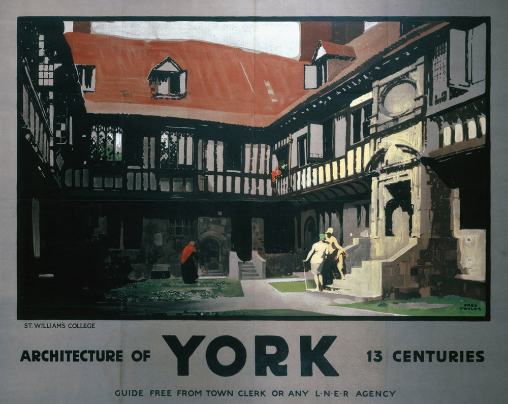 "Architecture of York 24"" x 32"" Matte Mounted Print"