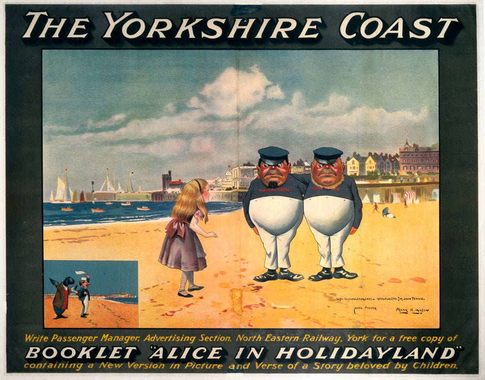 "The Yorkshire Coast Alice in Wonderland 24"" x 32"" Matte Mounted Print"