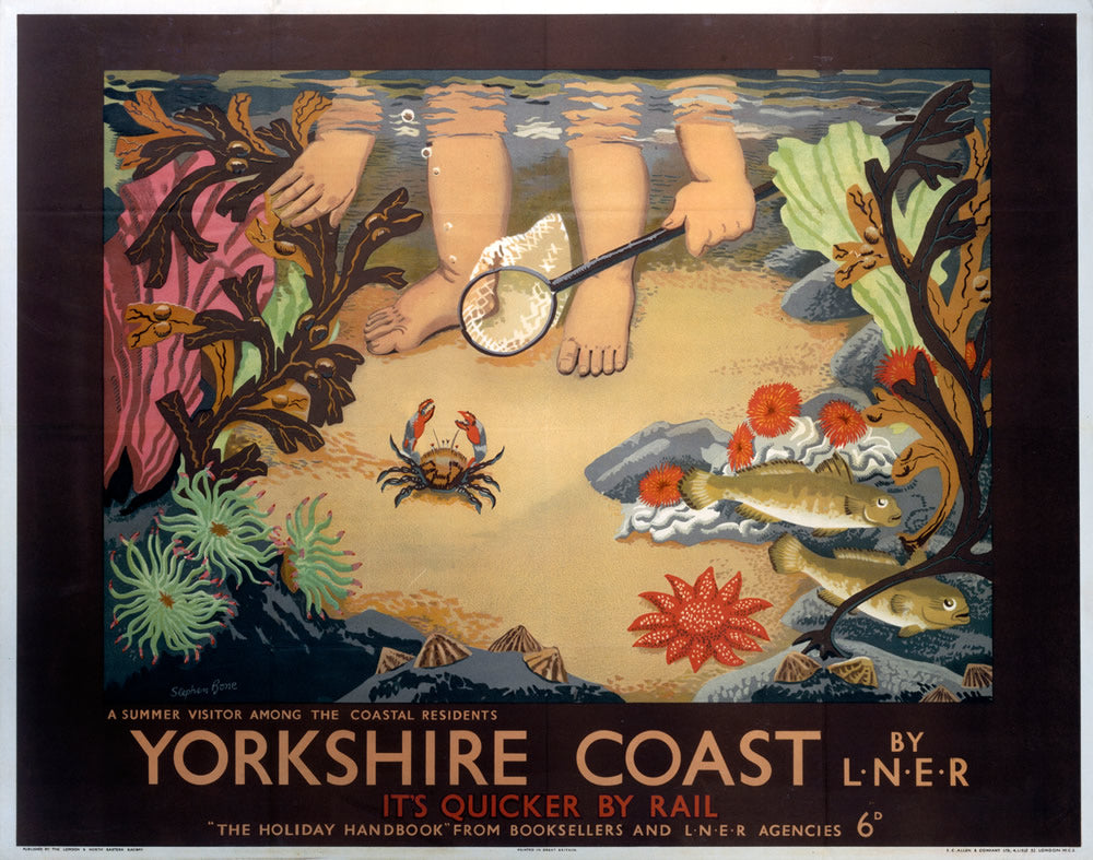 "Yorkshire Coast by LNER 24"" x 32"" Matte Mounted Print"