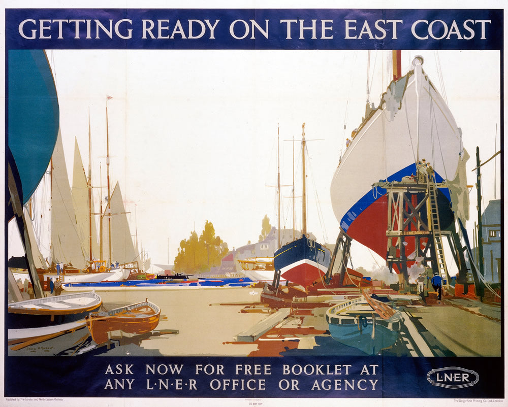 "Getting Ready on the East Coast LNER 24"" x 32"" Matte Mounted Print"