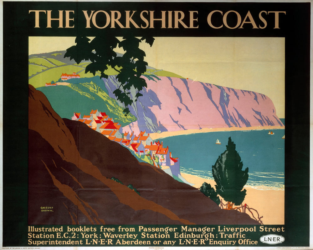 "The Yorkshire Coast LNER 24"" x 32"" Matte Mounted Print"
